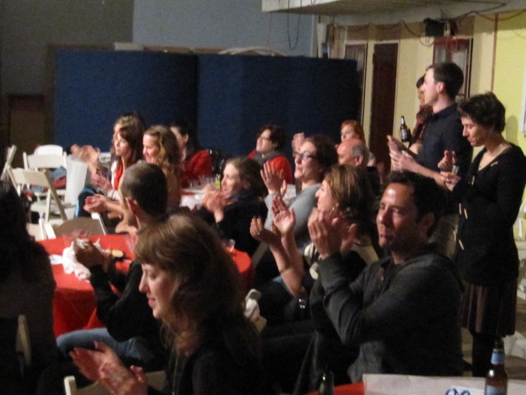 Audience at the first Physical Theatre Salon, February 2013