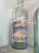 A vintage Carquinez Drug Store bottle on display at the Crockett Historical Museum.